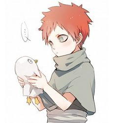 I don't know what he has, but the picture is just too cute!!!! XD Gaara