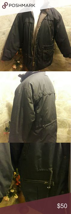 STRATOJAC X-treme heavy puffy jacket blue zipper L USED GOOD CONDITION STRATOJAC Jackets & Coats