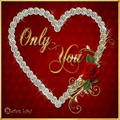 Only You love heart animated love quote gif i love you valentines day valentine's day love greeting