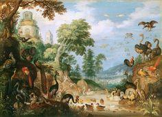 Roelant Jakobsz Savery - Paysage avec des oiseaux