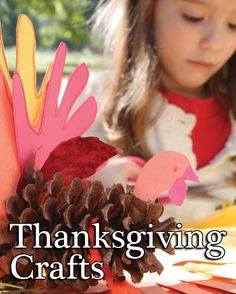 Thanksgiving Crafts - Thanksgiving Crafts for kids. Kindergarten, preschool, and elementary school crafts. These easy Thanksgiving crafts offer kids an quick way to create a memorable holiday. Projects use simple, common materials like pinecones, fabric, foam, and paper to make decorations and gifts.
