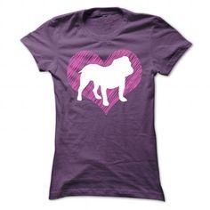 favorite Names I Love My Bulldog on Pink Heart Tee Shirts & Tees