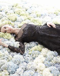 Marchesa Notte lace dress at Neiman Marcus