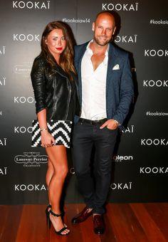 Nick and Rozalia Russian. Rozalia wears our Atlantis Playsuit and Brixton Clutch. Xx