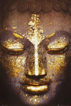 Buddha Kunst, Art Buddha, Buddha Face, Buddha Zen, Buddha Painting, Buddha Statues, Grand Art Mural, Golden Buddha, Wall Art Prints