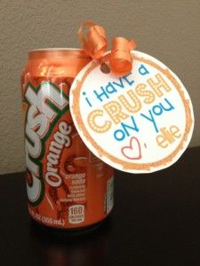Cute idea. I have a crush on you MomsReview4You: Fun Soda Valentine Ideas! *FREE PRINTABLE*