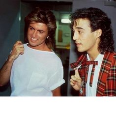 George Michael and Andrew Ridgeley #wham #georgemichael #andrewridgeley #thesinginggreek