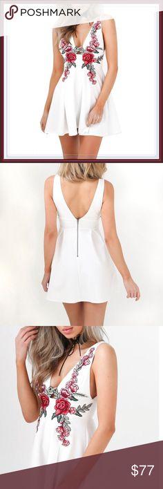 "White ""Flowers in the Attic"" Mini Dress ➖SIZE: Small,  Medium , Large   ❌NO TRADE #tank top sexy club dress Dresses Mini"