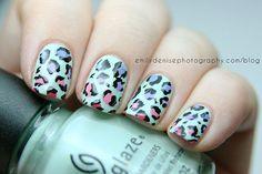 Very Emily » Avant Garden Leopard Nails (gradient spots)