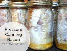 line the bacon up on parchment paper and then fold over Roll it up like a sleeping bag, tucking as you go. Put it in the larger wide mouth jar…you may have to force it in. It will be a tight fit All snug in the pressure canner This is what you get That... #canning #canningbacon #foodstorage