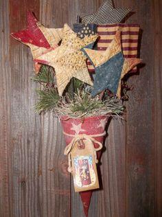 Prim Americana Peg Hanger/Door Greeter. Make Your Own...Sue 2013