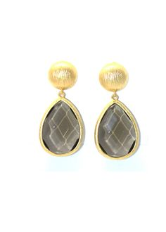 Gold & Smokey Earring – Teal House Collection