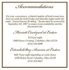 Burlap Wedding Accommodation - Reception Cards