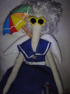 Beach Angel Doll One of a Kind Handmade Bathing by sherimusum, $45.00