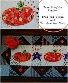 Pat Sloan Free Pumpkin Runner, fall table runner, charm pack quilt, star quilt, charm pack friendly