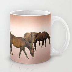 Grazing Horses Mug by Bebop's Place - $15.00