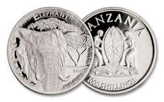 2015 Tanzania 1-oz Silver Plated Serengeti Big 5 Elephant
