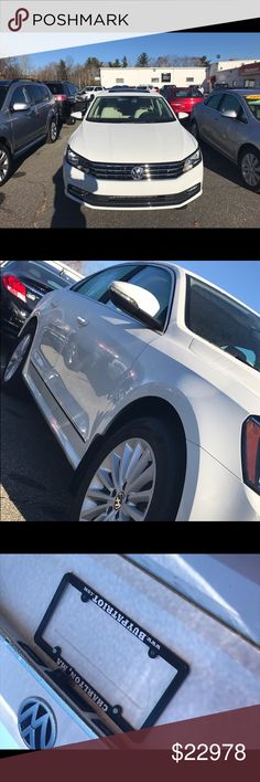Used 2016 Volkswagen Passat 4 door, 4 Cylinder Turbo Charge engine 7,614 miles  White interior Accessories: Push to start start-up, Sun Roof, Back Camera, Duel Climate control, XM radio, Navigation, Headed Seats, Monitor and more. Anyone interested come down to Patriot Buick GMC located in Charlton, Ma and ask for sales representative Darius or inbox me for more info. — at Patriot Buick GMC. Other