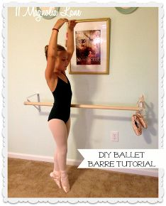 tutorial how to make your own diy ballet barre, crafts, Two closet brackets and a wooden dowel make a DIY ballet barre