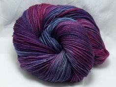 Handdyed Sock Yarn in Blurple by dragonflydyeworks on Etsy.