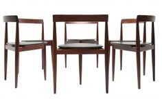Teak Hans Olsen for Frem Rojle dining chairs. Mid Century Dining Chairs, Dining Room Chairs, Cool Furniture, Furniture Design, Scandinavian Furniture, Mid Century Modern Furniture, Modern Chairs, Fine Dining, Teak