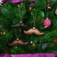 Moustache Ornament Set Of 4