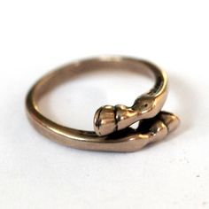 Love! Horse Hoof Ring in Solid Bronze by mrd74 on Etsy, $35.00