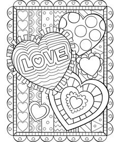 Crayola Valentine Coloring Pages Awesome Valentine Hearts Coloring Page Heart Coloring Pages, Free Printable Coloring Pages, Colouring Pages, Coloring Sheets, Coloring Books, Mandala Coloring, Crayola Coloring Pages, Wedding Coloring Pages, My Funny Valentine