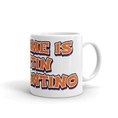 Mug Name Tentin Quarantino Bar Club Coffee Pub Party Gift Ceramic Milk Drink Pun Health Morning Coffee, Party Gifts, Puns, Milk, Etsy Shop, Ceramics, Club, Bar, Drinks
