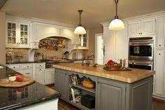 gray glazed cabinets