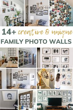Are you looking for creative and unique ways to hang family photos? Then you'll love this post fill with 14 family photo wall ideas and 3 reasons why you should hang family photos in your home! #familyphotos #ideas #walldecor Hanging Family Photos, Display Family Photos, Family Pictures, Wall Decor Crafts, Diy Wall Art, Modern Farmhouse Gallery Wall, Gallery Wall Staircase, Home Decor Inspiration, Decor Ideas