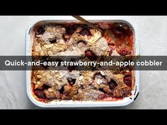 Strawberry-and-apple cobbler | Woolworths TASTE