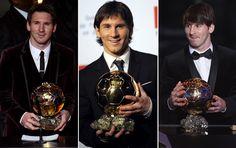 Pela quarta vez, Messi leva Bola de Ouro