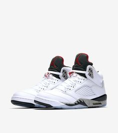 the latest ac489 7e885 Air Jordan 5 Retro  White   Black   University Red  Release Date