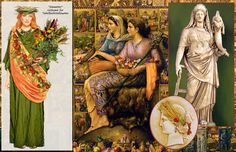 Demeter, Greek goddess of agriculture and the bountiful earth, mother of Persephone.