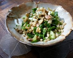 Herbed Farro Salad with Walnuts, Feta and Spinach from Episode 6: Office Food Overhaul