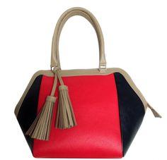 Only Designers Shop LLC - MARTINA RED-NAVY-BLACK GENUINE LEATHER, $179.00 (http://onlydesignersshop.com/martina-red-navy-black-genuine-leather/)