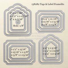 Tags & Label Framelit sizes shared by Dawn Olchefske #dostamping #stampinup
