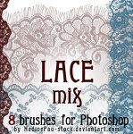 Lace brushes (and links to other good stuff) by Nadine Pau