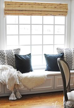 Dear Lillie: Our Window Seat Area with New Lantern