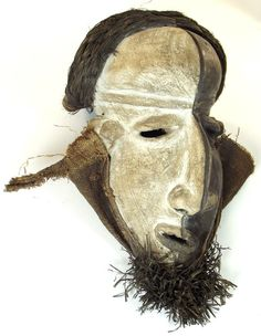 Tribal African Art Mask by Pende People (Bapende or Mupende), ethnic group of Democratic Republic of the Congo