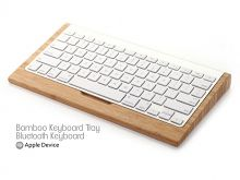 Bamboo Keyboard Tray for Apple Bluetooth Keyboard #Mac #Bamboo