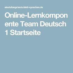 Online-Lernkomponente Team Deutsch 1 Startseite
