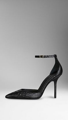 Point-Toe Python Pumps | Burberry
