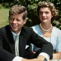 President John F Kennedy and First Lady Jacqueline Kennedy, in Hyannis Port, 1953