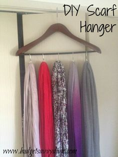 How to Make a Scarf Hanger Using Shower Curtain Rings and a Hanger ...2448 x 3264 | 2.3MB | www.budgetsavvydiva.com