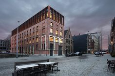 Renovatie Kendall pakhuis tot kantoren SD Worx - Stramien cvba