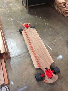 Longboard. Looks self made. Beast mode on.