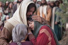 Jesus Hugging Woman