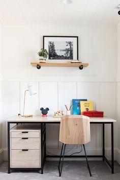 Having some fun in the final reveal of our Northridge Remodel! Teen Desk, Boys Desk, Bedroom Desk, Kids Bedroom, Desk Areas, Boho Stil, Studio Mcgee, Room Inspiration, Furniture